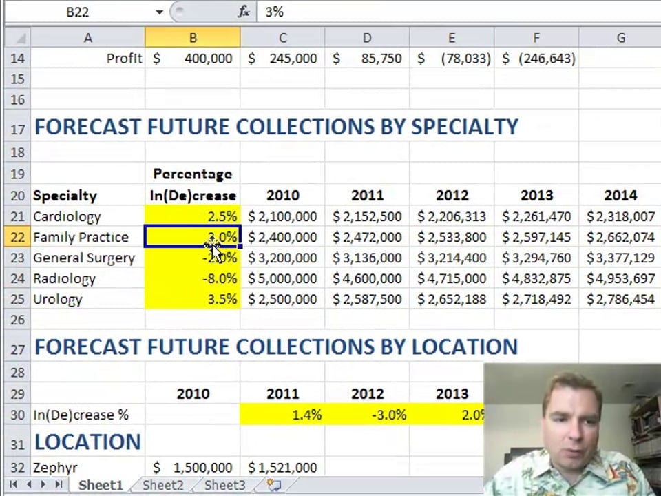 Excel Video 254 Mixed Cell References