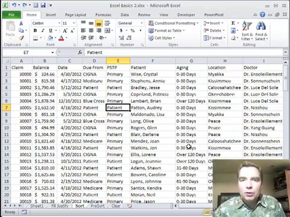 Excel Video 261 Sorting in Excel
