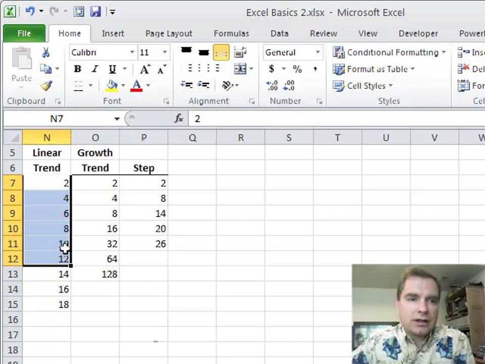 Excel Video 259 Fill Trends