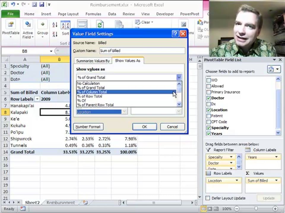 Excel Video 299 Percentages of the Total