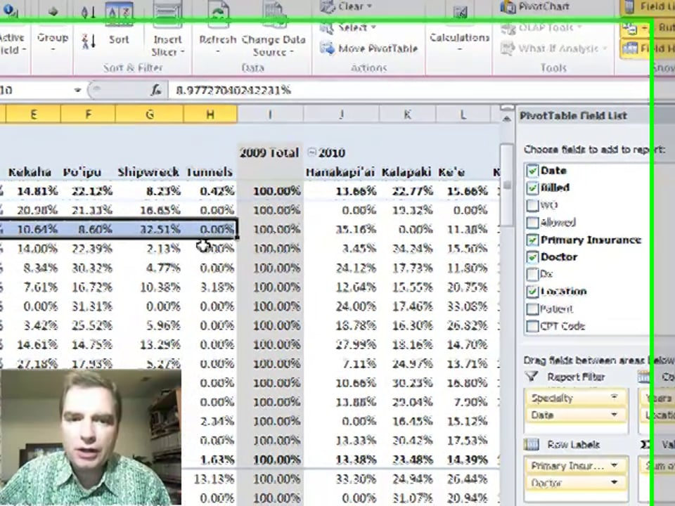 """Excel Video 302 """"Show Values As"""" Shortcuts"""