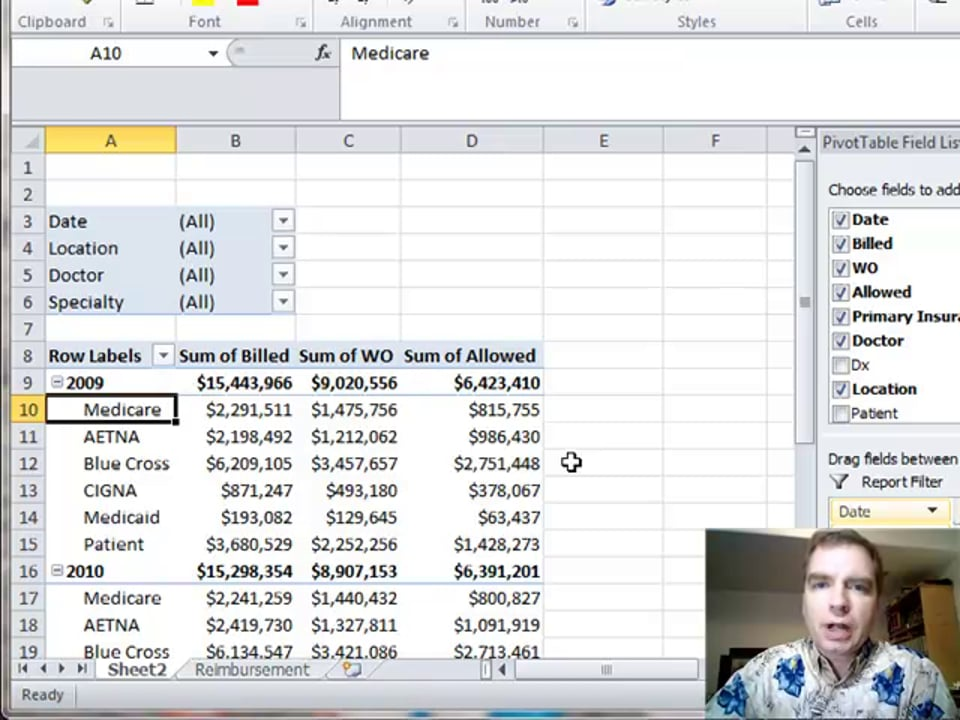 Excel Video 312 GETPIVOTDATA Part 3