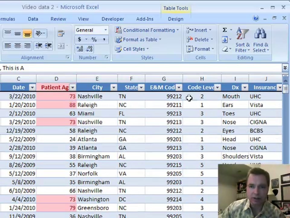 Excel Video 31 Adding Data to a Table