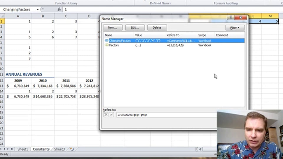 Excel Video 351 Changing Named Array Constants