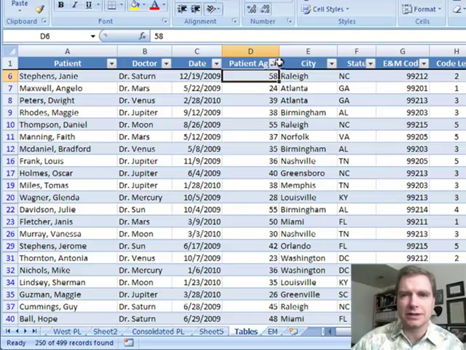 Excel Video 35 Filtering Numbers in Tables