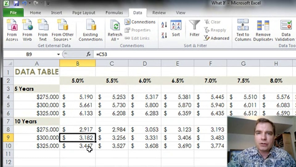 Excel Video 343 Data Tables with Three Variables
