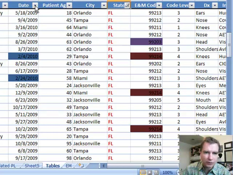 Excel Video 36 Filtering by Color in Tables