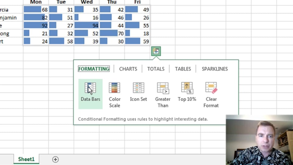 Excel Video 374 Quick Analysis – Formatting