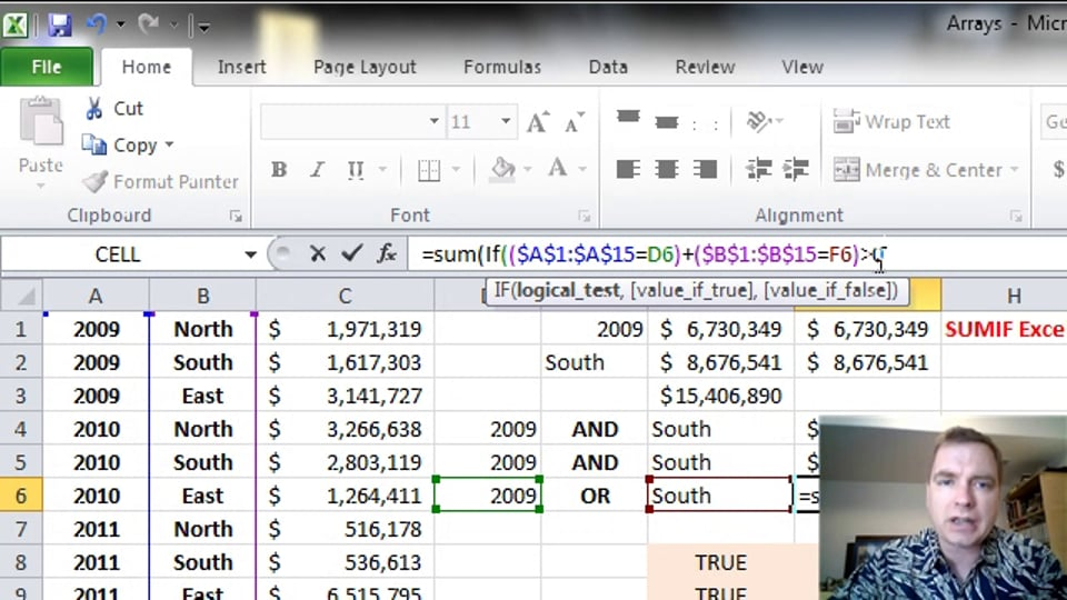 Excel Video 356 SUM with OR Criteria in an Array