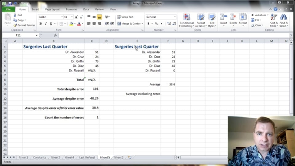 Excel Video 367 Using Arrays to Exclude Values