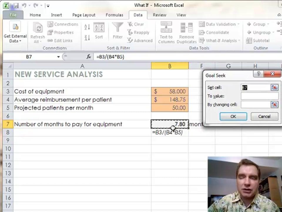 Excel Video 331 Introducing Goal Seek