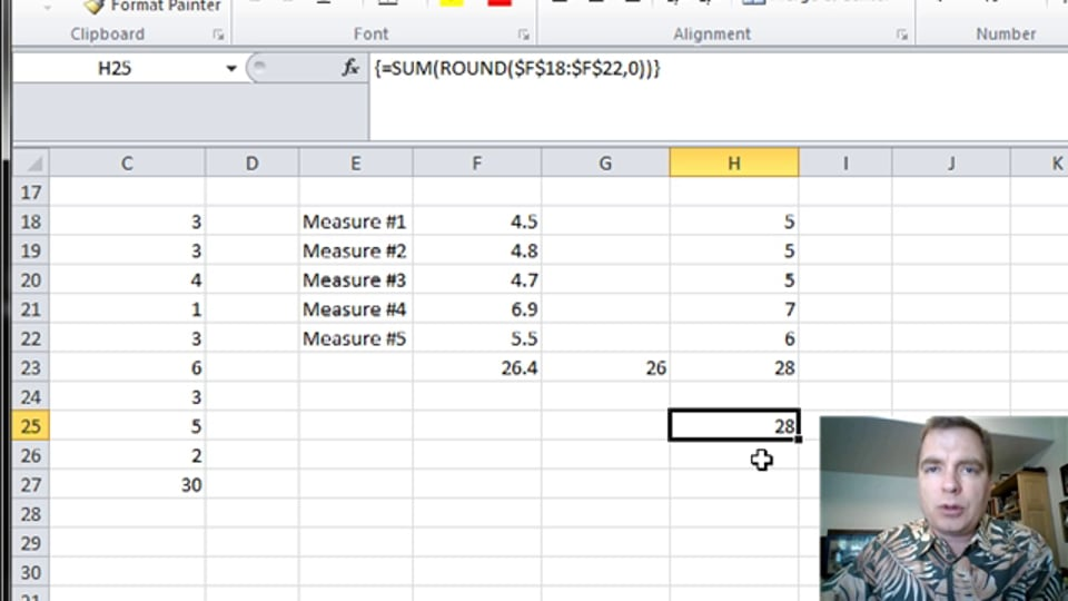 Excel Video 358 ROUND in an Array