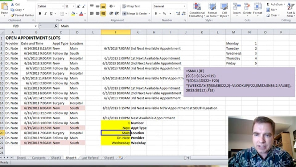Excel Video 362 Using Arrays with SMALL, Part 3