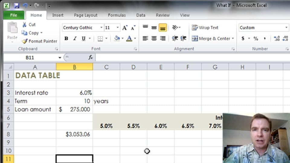 Excel Video 341 Introducing Data Tables