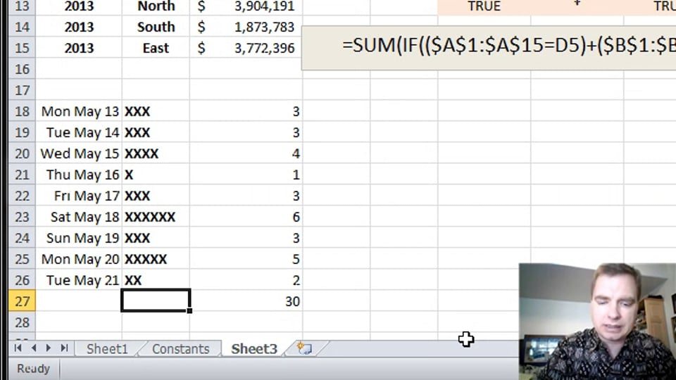Excel Video 357 LEN in an Array