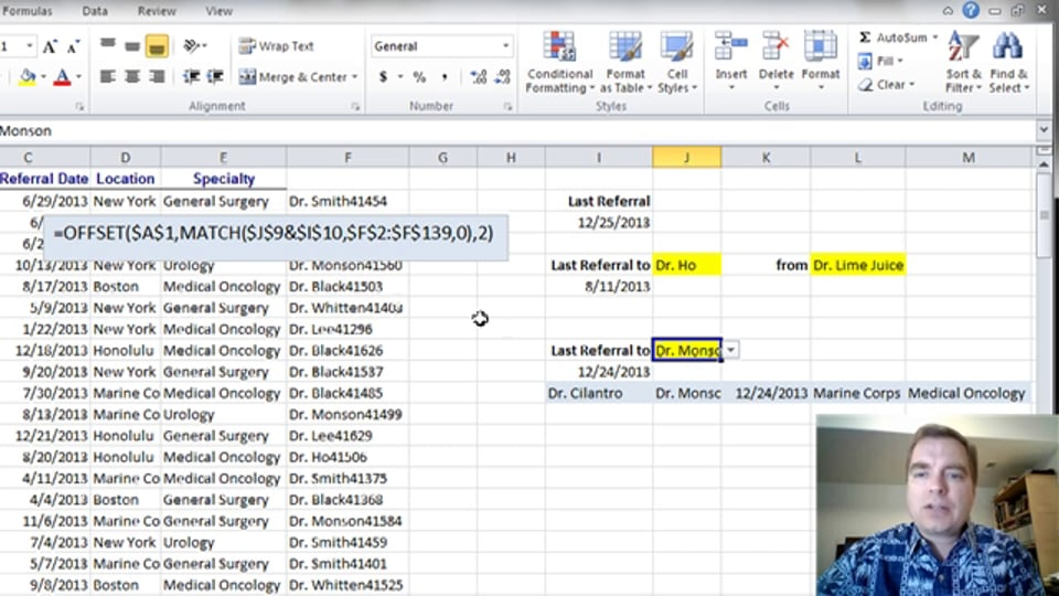 Excel Video 364 Using LARGE to Find the Last Referral Part 2
