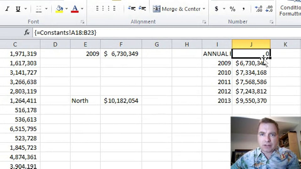 Excel Video 353 Using Arrays to Copy Data