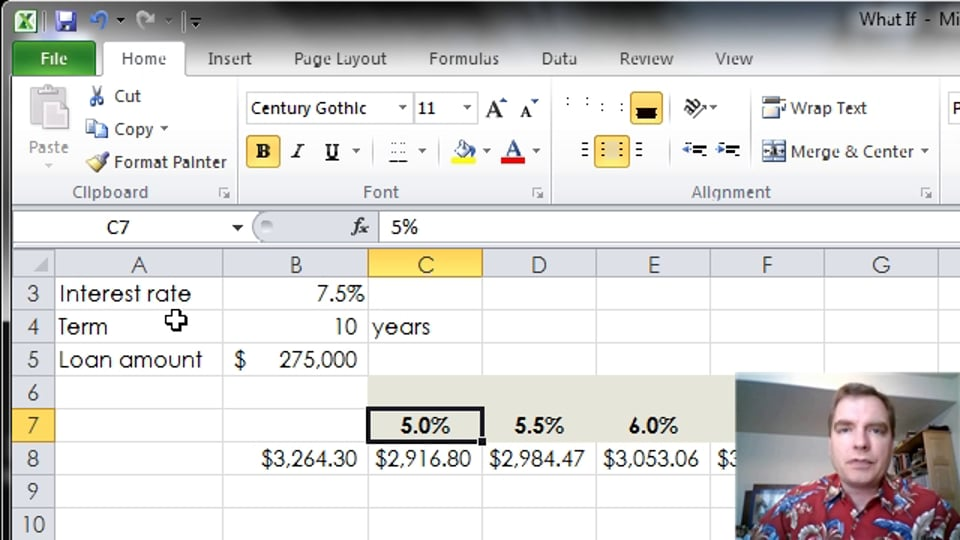 Excel Video 342 Data Tables with Two Variables