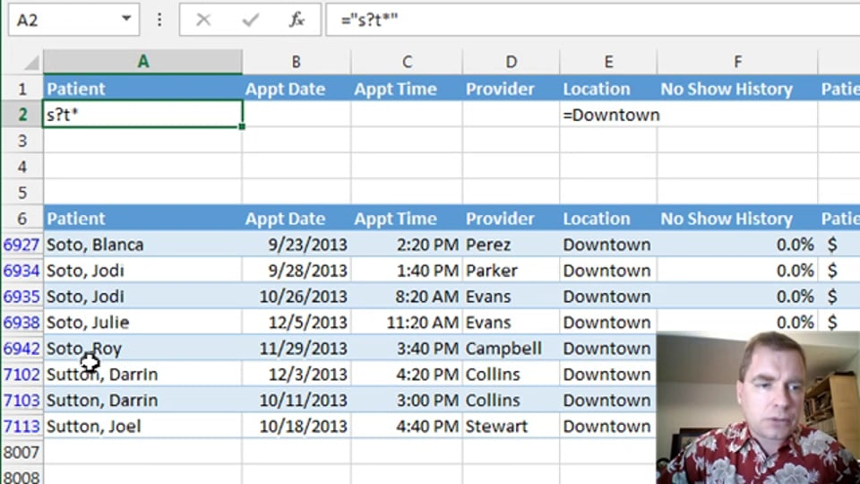 Excel Video 390 Advanced Filtering Part 3