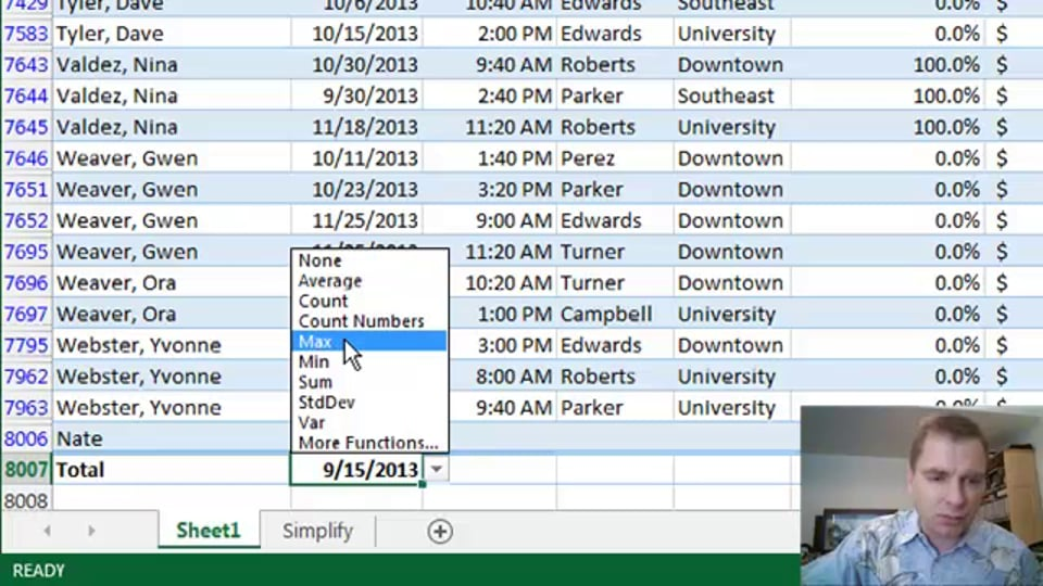 Excel Video 397 Adding Data to Tables