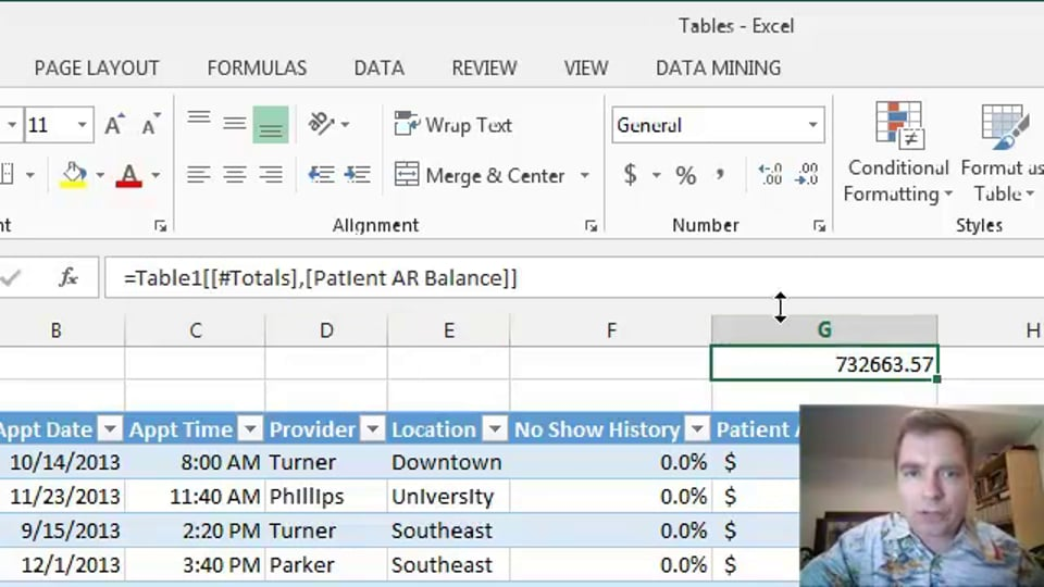Excel Video 396 Bringing Totals to the Top of the Table