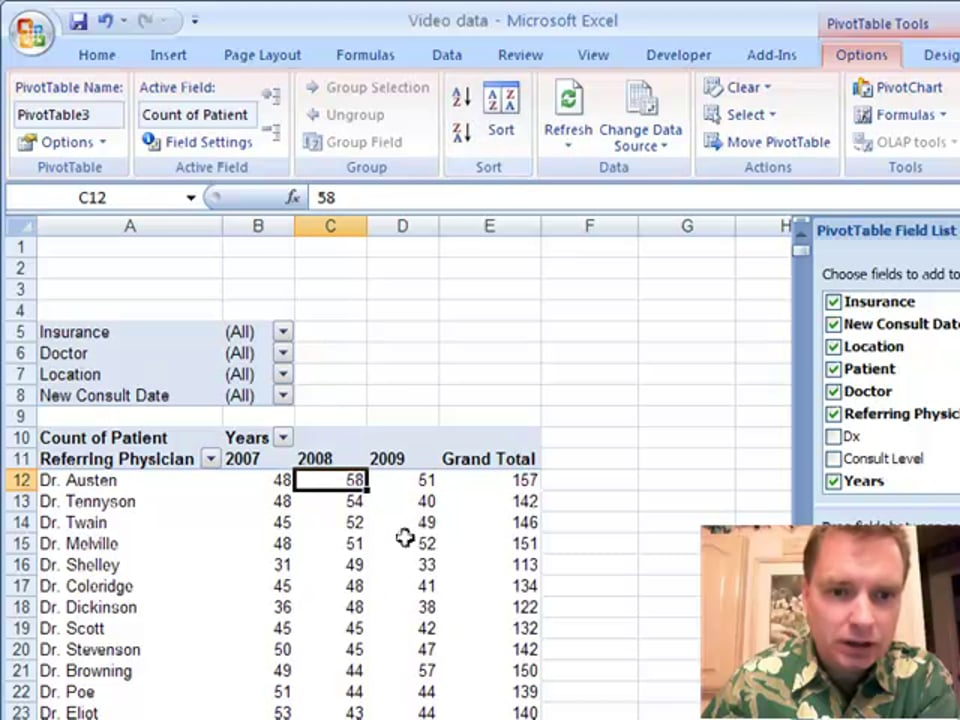 Excel Video 4 Grouping Pivot Table Fields