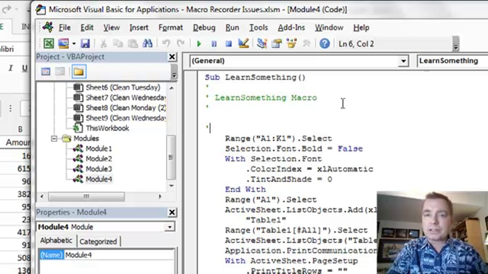 Excel Video 412 Debugging With Breakpoints