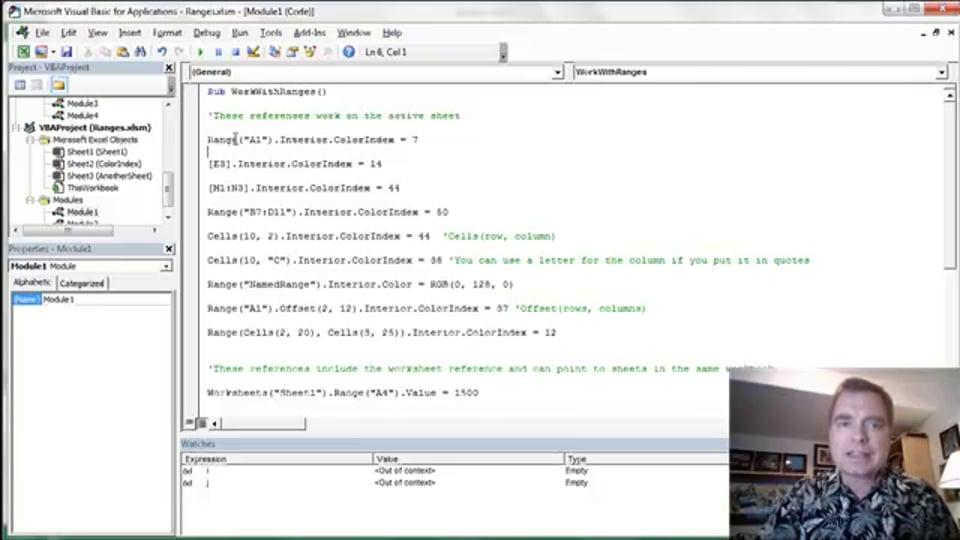 Excel Video 417 Identifying Ranges