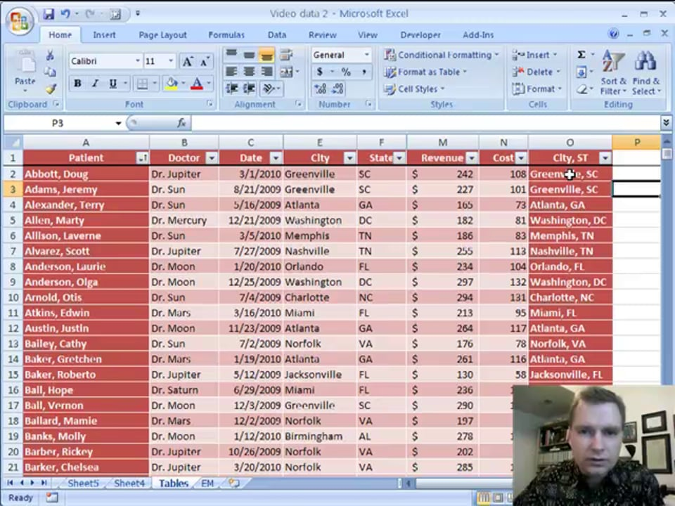Excel Video 43 Table References