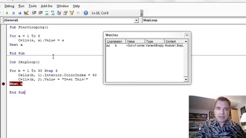 Excel Video 424 Loops with Steps