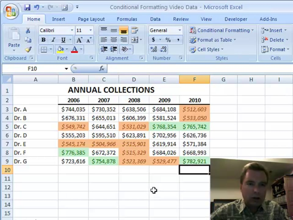 Excel Video 45 Highlight Cells Rules, Part 1