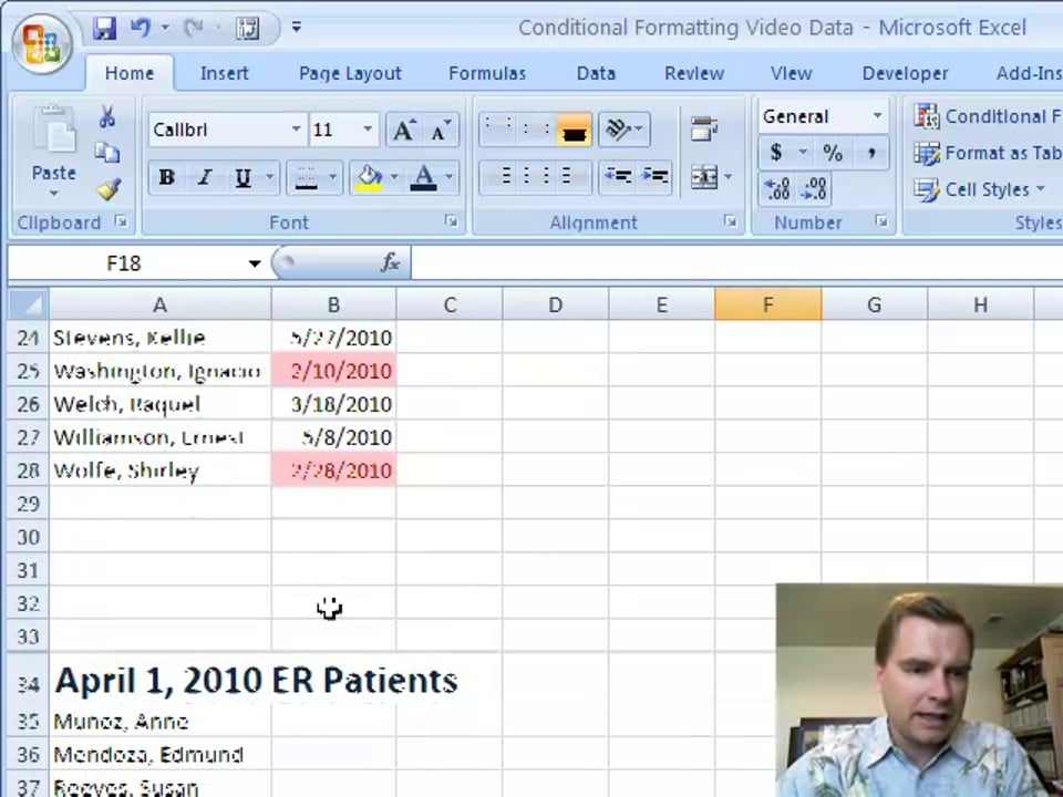 Excel Video 46 Highlight Cells Rules, Part 2