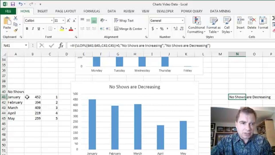 Excel Video 446 Chart Titles Part 2