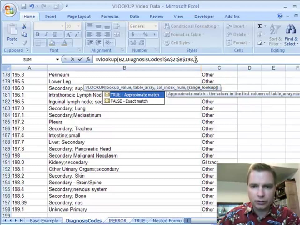 Excel Video 63 Exact vs Approximate Match and IFERROR