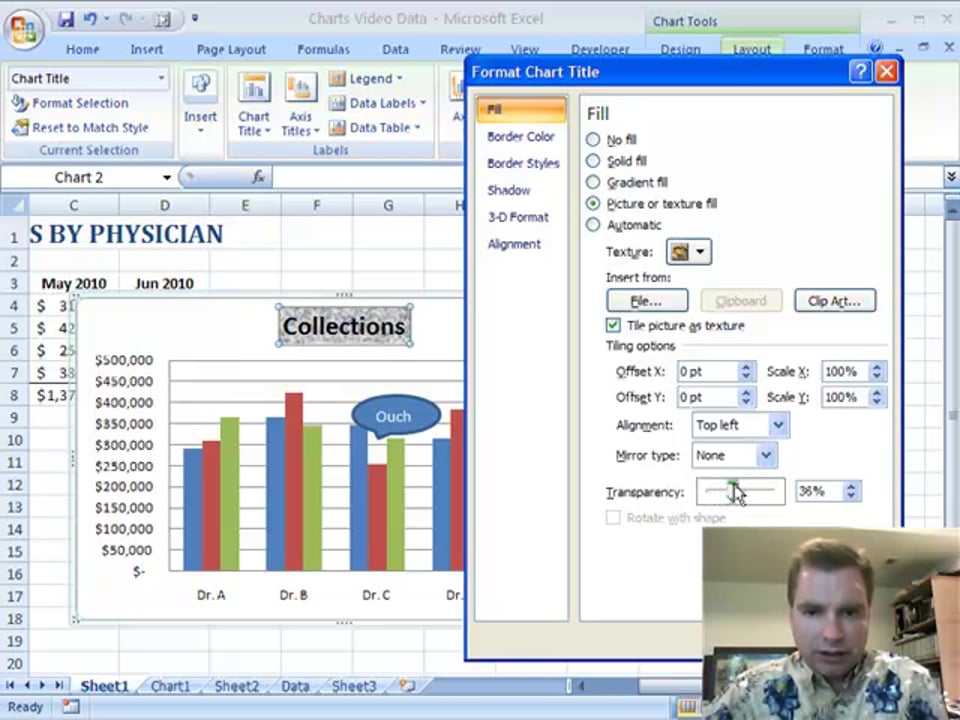 Excel Video 74 Chart Titles
