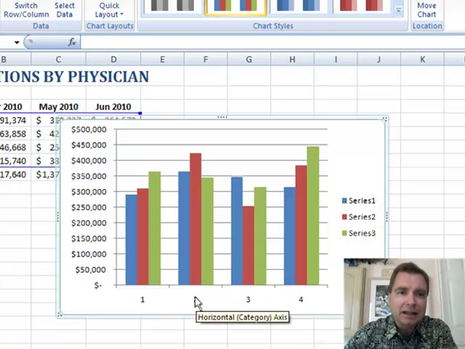 Excel Video 70 Introducing Excel 2007 Charts