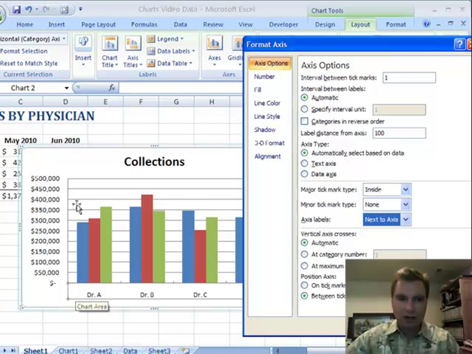 Excel Video 79 Horizontal Axis Options