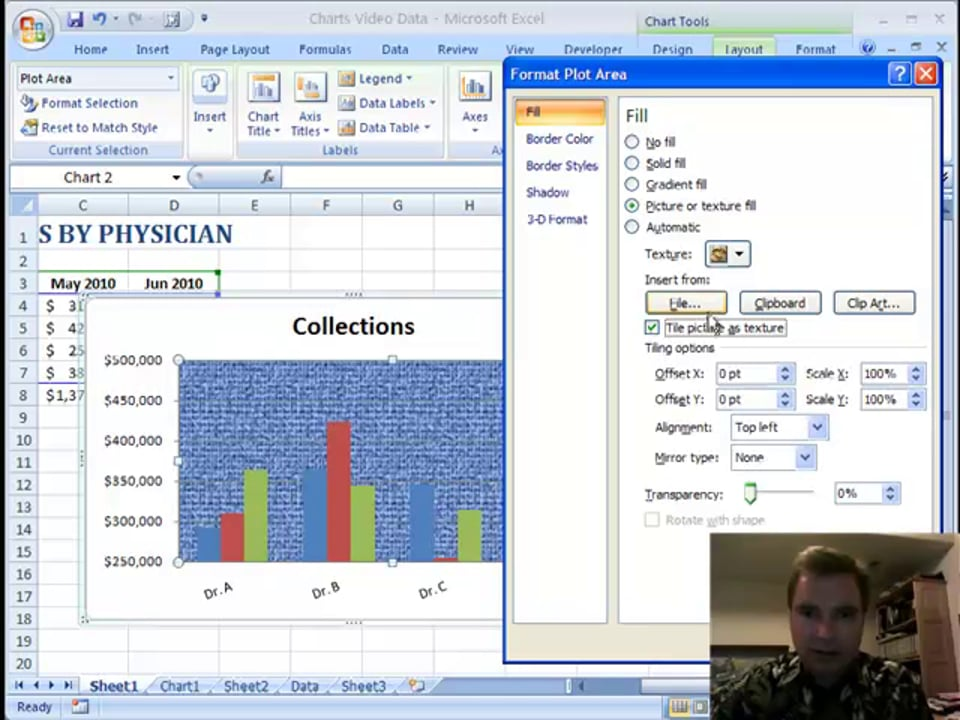 Excel Video 82 Plot Area