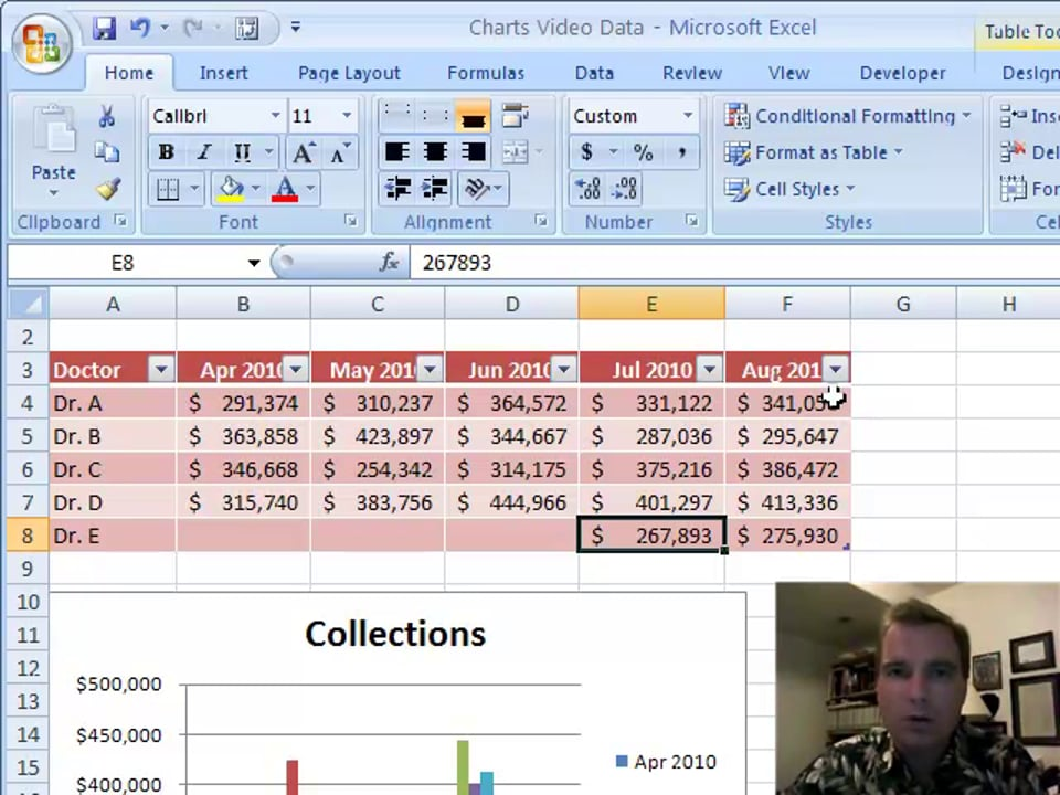 Excel Video 83 Adding Contiguous Data to a Chart Manually and Automatically