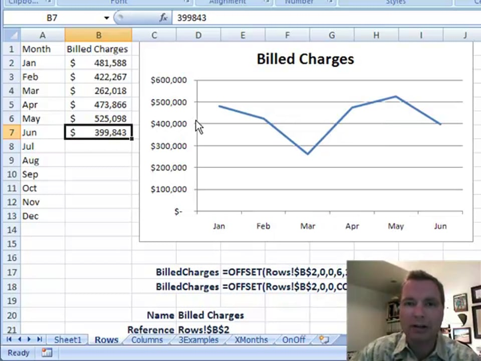 Excel Video 85 Automatically Updating Charts with OFFSET