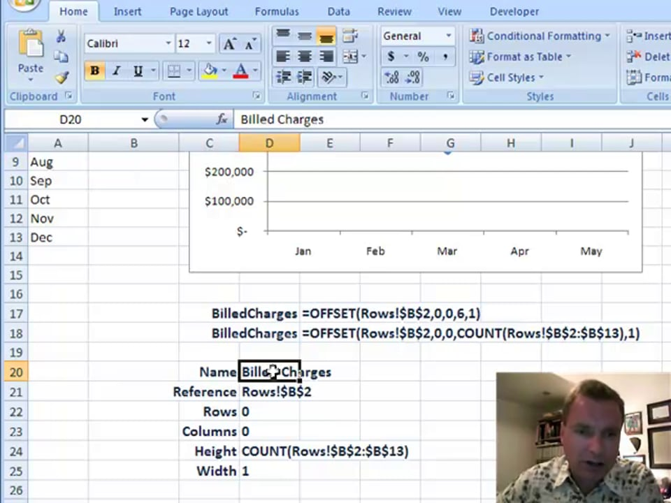 Excel Video 87 Getting Started with OFFSET