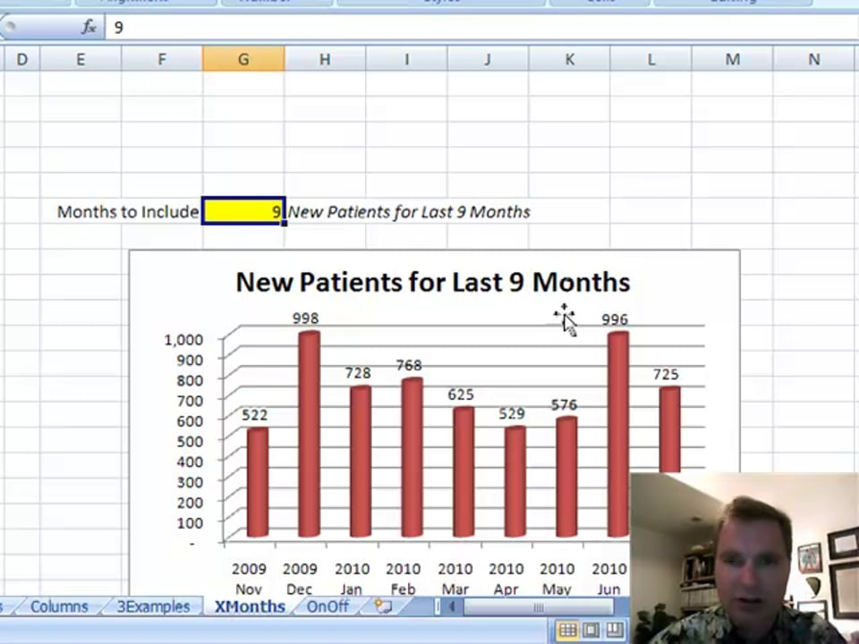 Excel Video 92 Using OFFSET with Bigger Ranges