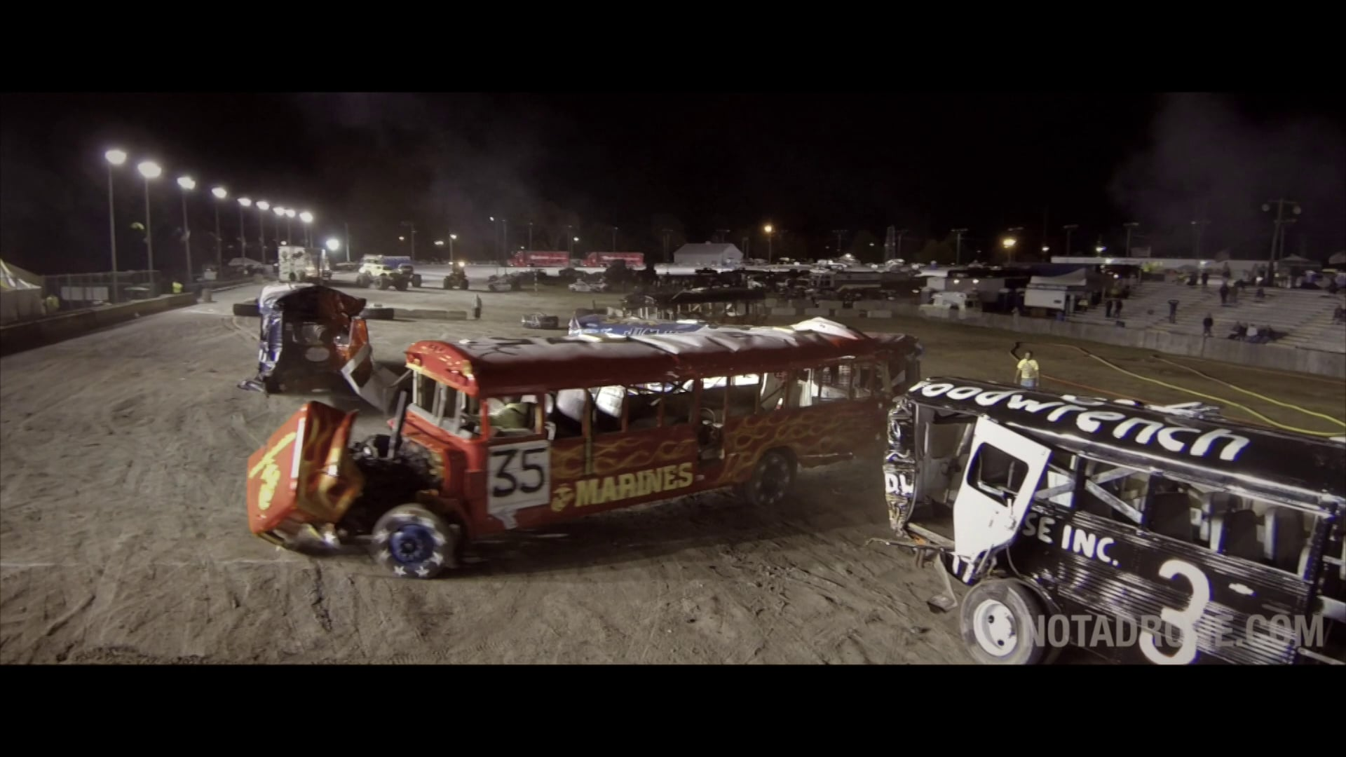 Epic School Bus Demolition Derby Aerial Drone video, Erie County Fair, NY CT MA NJ Aerial Photography and Video