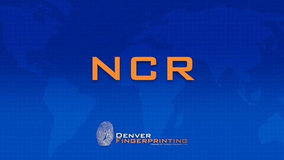 NCR – FBI Fingerprint Training