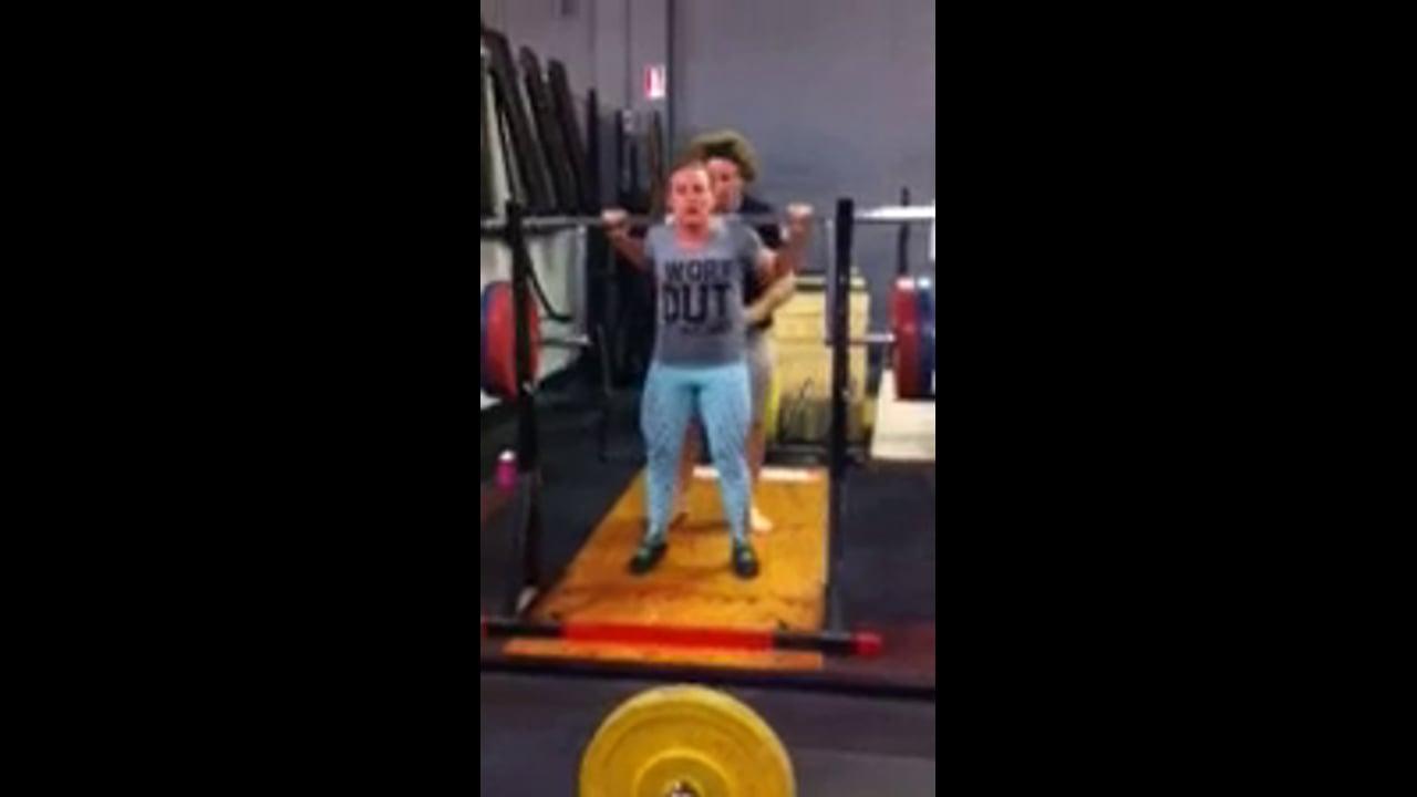 Cambered Bar Squat 131kg Lizanne BW 63kg