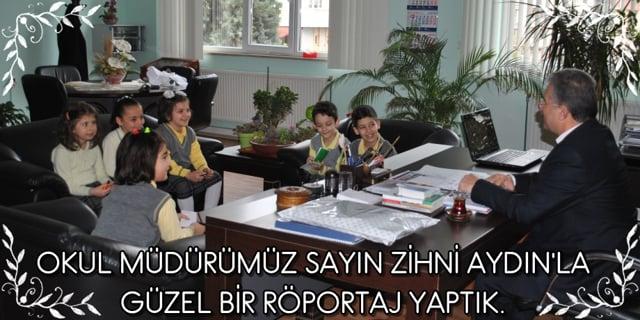 Okul Müdürümüzle röportaj yaptık.
