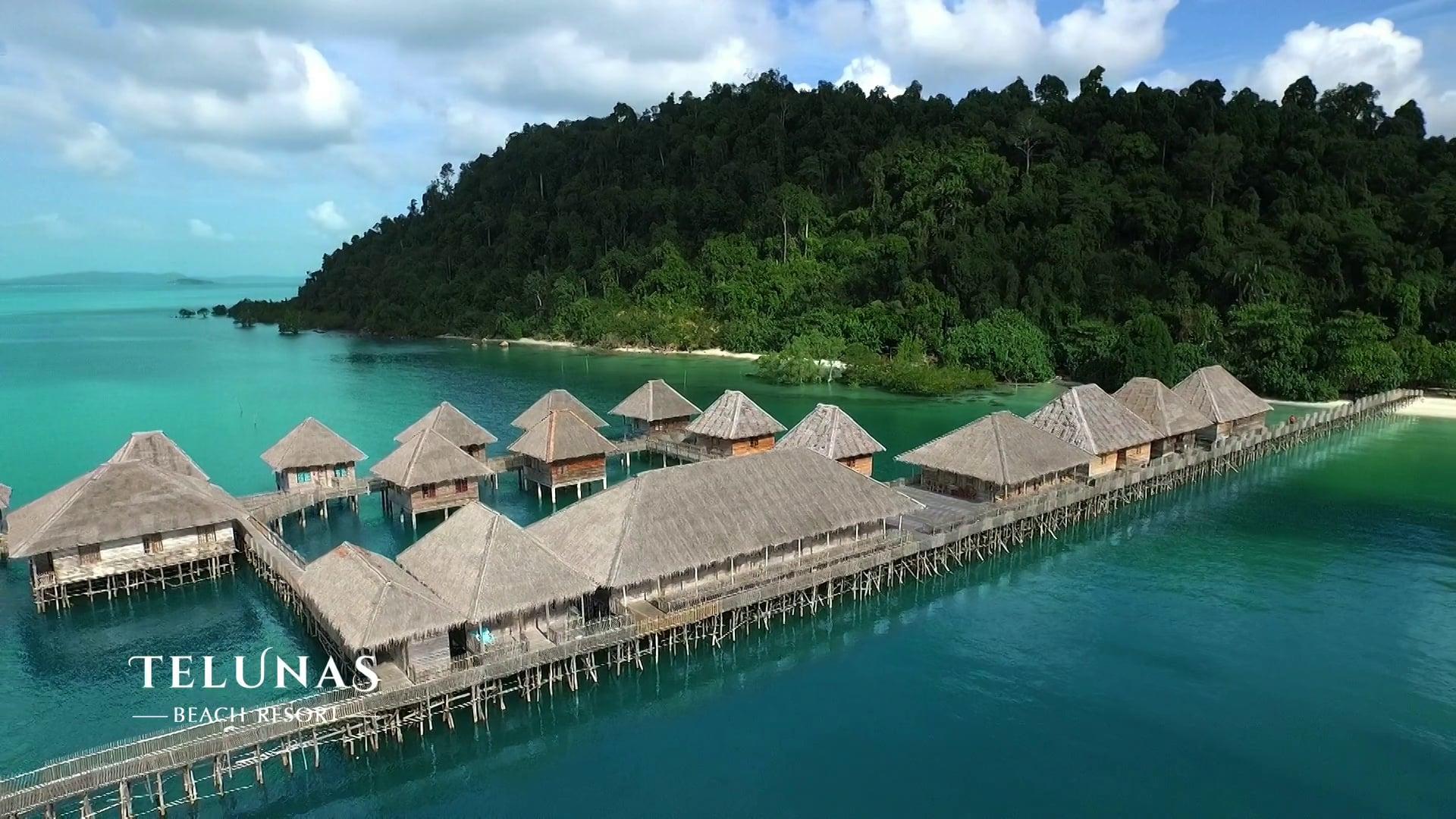 Telunas Beach Resort - Aerial Video