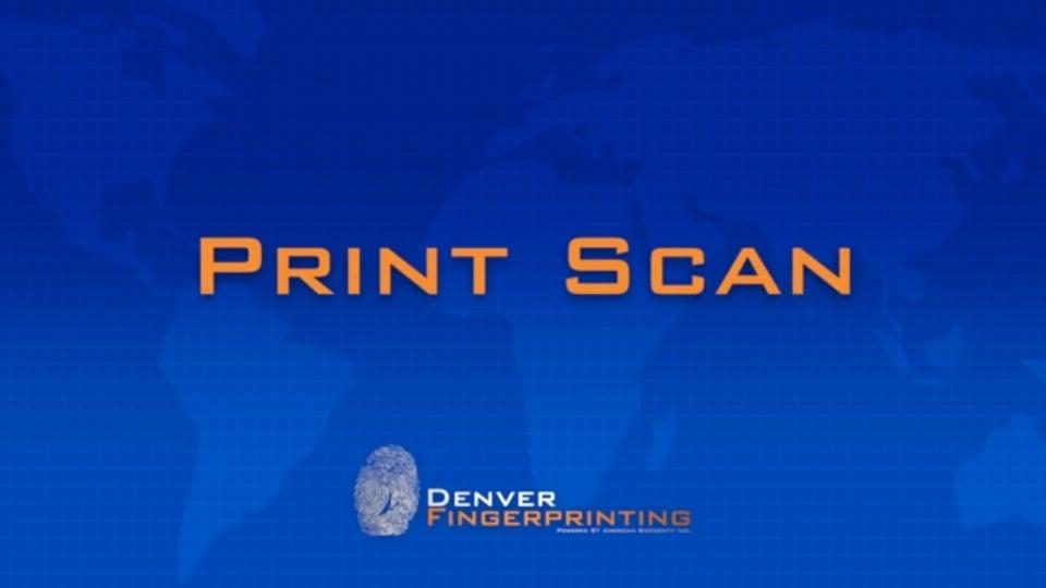 Print Scan – FBI Fingerprint Training