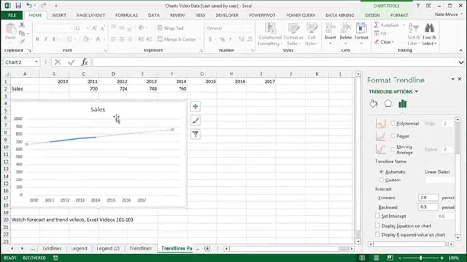 Excel Video 455 Trendlines Part 2