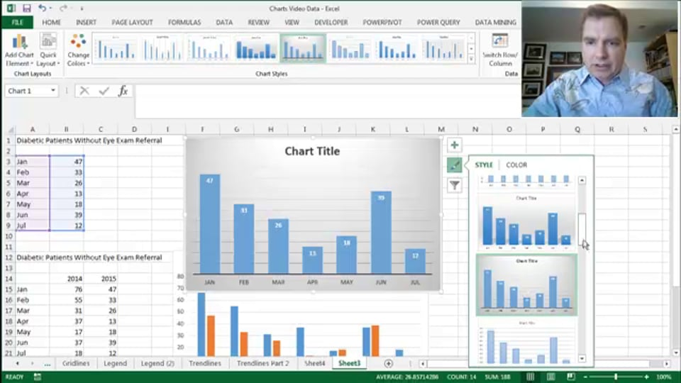 Excel Video 456 Chart Styles Part 1